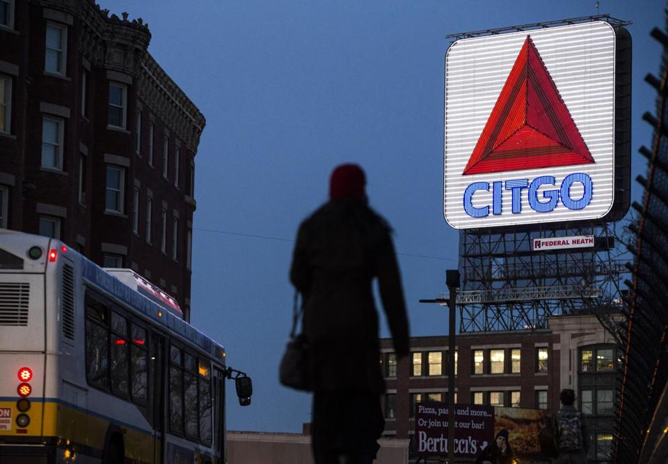The Citgo sign in Kenmore Square.